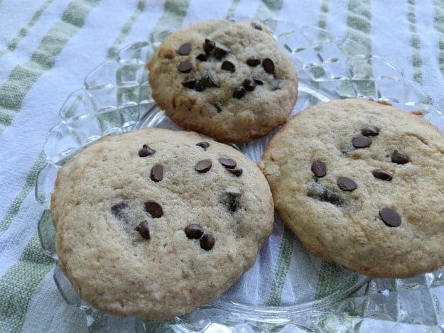 Don't be misled by this less than stellar photo. These gluten-free Banana Chocolate Chip Cookies are awesome. Especially hot out of the oven. [from GlutenFreeEasily.com]