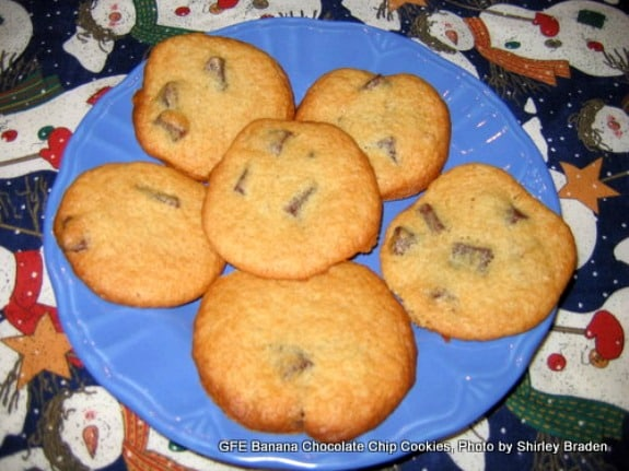 The best possible way to use overripe bananas! Move over Banana Bread! Gluten-Free Banana Chocolate Chip Cookies
