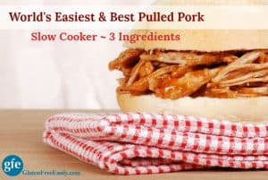 The World's Easiest and Best Pulled Pork has only three ingredients--and one of them is the pork butt! It's so easy to make using your slow cooker. It's so good you'll want to eat it right out of your crockpot!