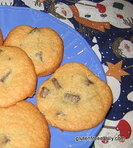gluten-free chocolate chip cookies, gluten-free banana cookies, banana chocolate chip cookies, brown bananas, ways to use overripe bananas, dessert, cookies recipes