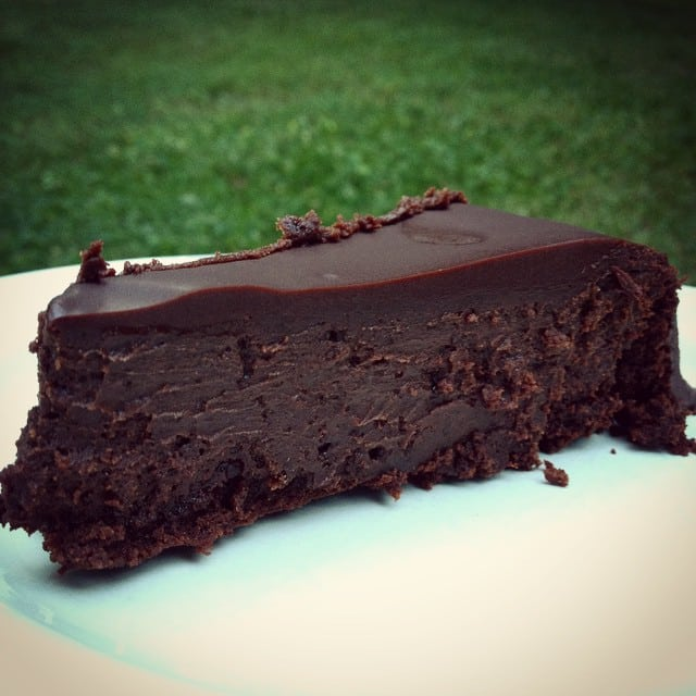A Slice of My Flourless Chocolate Cake. (Photo courtesy of Brandae Filla.) [from GlutenFreeEasily.com]
