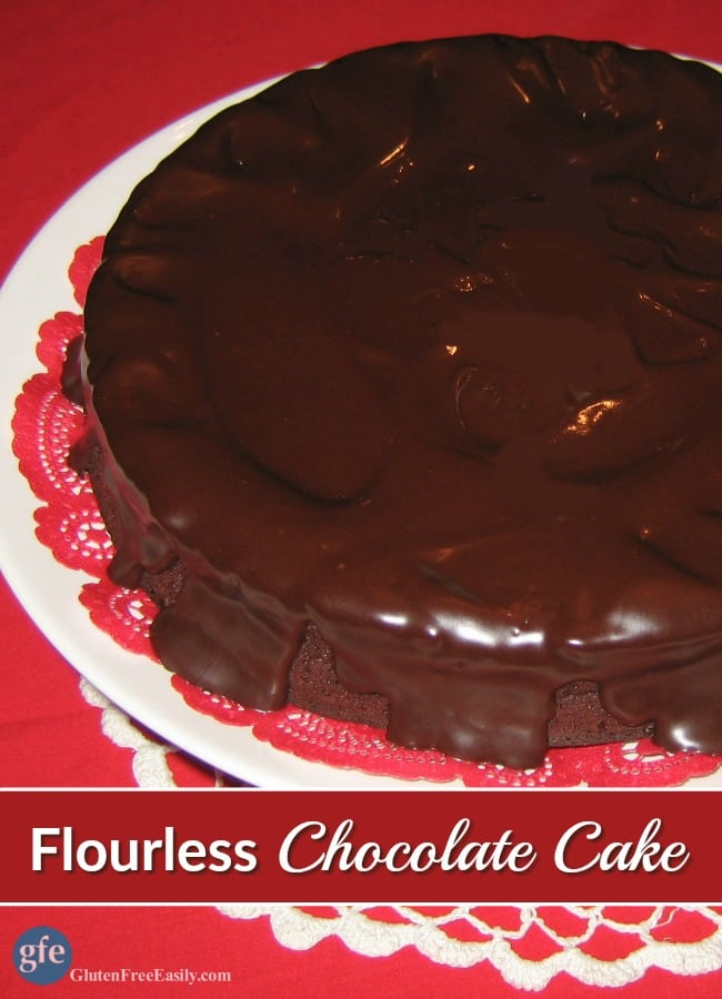 The ultimate Flourless Chocolate Cake. Perfect for every holiday and special occasion. You don't even have to separate the eggs either. I LOVE that part!