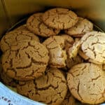 Flourless Peanut Butter Cookies in a Tin for Aunt Lorraine