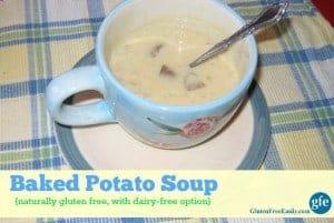 Gluten-Free Dairy-Free Baked Potato Soup Gluten Free Easily