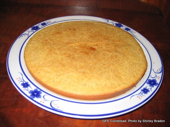 Flat and Firm Cornbread Gluten Free Easily