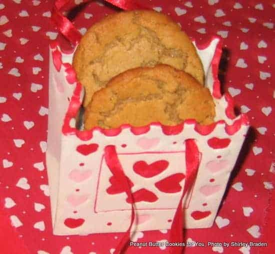 Gluten-Free Flourless Peanut Butter Cookies for Valentine's Day