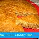 Banana Kahlua Coconut Cake