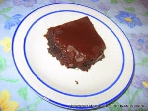 "Gluten-Free Mediterranean Chocolate Cake. This simple one-layer chocolate cake is my ""go to"" cake recipe for friends' birthdays. Don't be disappointed by a single layer. This cake feeds quite a few people and has a lovely presentation. [from GlutenFreeEasily.com]"