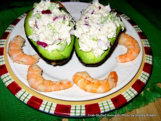 Crab-Stuffed Avocado. Such a delightful appetizer or even light meal!