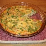 Crustless Ham and Green Onion Quiche