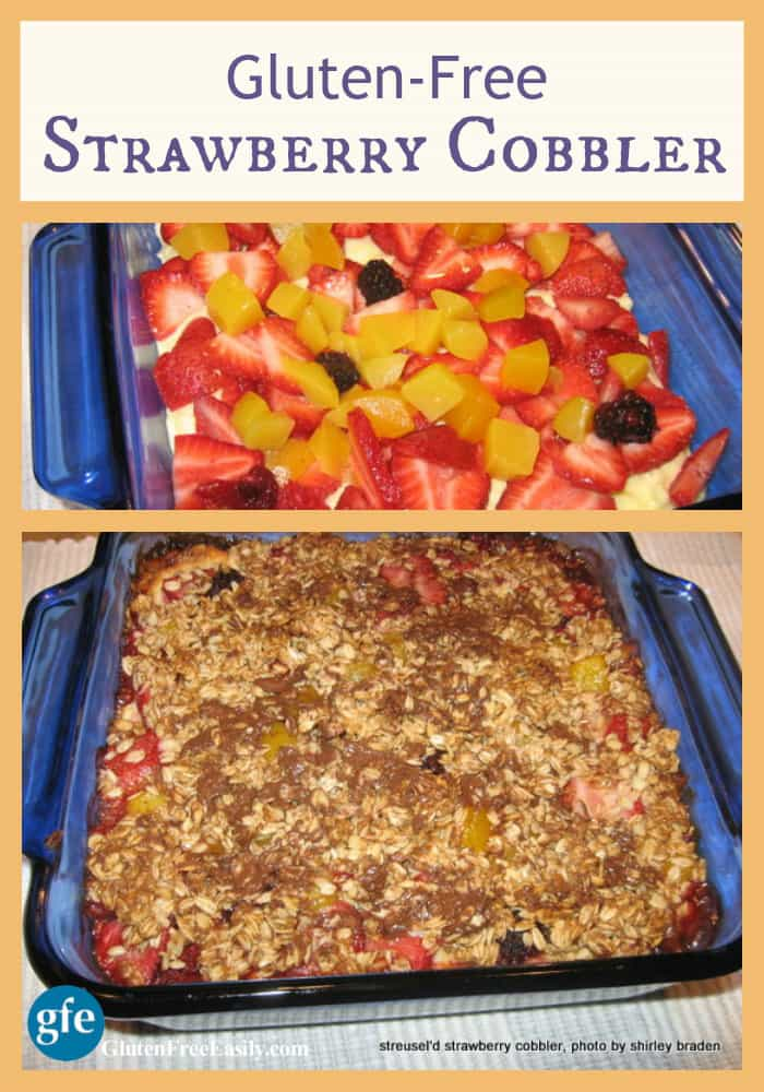 Gluten-Free Strawberry (and fruit) Cobbler at Gluten Free Easily