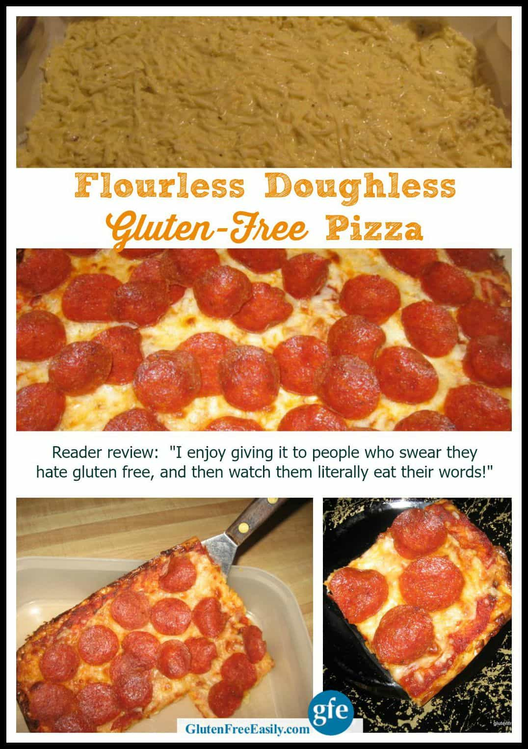 You Won't Believe This Gluten-Free Flourless and Doughless Gluten-Free PIzza!