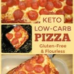 Low-Carb Pizza (Flourless, Gluten Free)