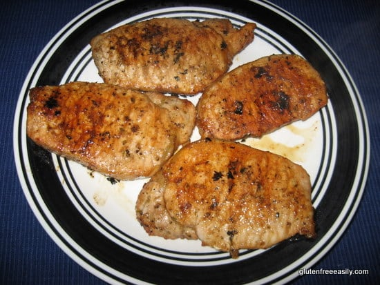 Gluten-Free Zesty Marinated Pork Chops. You don't have to marinate these pork chops too long to ensure amazing flavor. Totally delicious pork chops! [from GlutenFreeEasily.com]