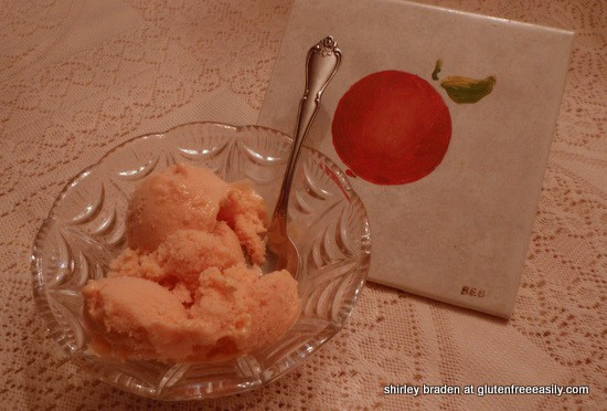 gluten free, dairy free, refined sugar free, vegan, Wellness Weekend, peach, ice cream, sorbet, sherbet