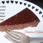 Flourless Chocolate Banana Honey Walnut Cake