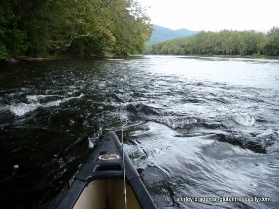 canoeing, paddling, Shenandoah River, self-care retreat