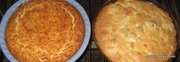 Crustless Gluten-Free Coconut Pie and Crustless Gluten-Free Apple Pie Gluten Free Easily