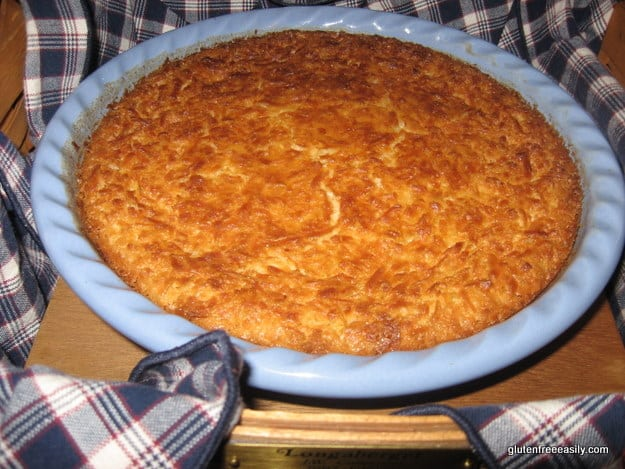 gluten free, crustless, coconut pie, recipe, gluten free easily, gfe, Shirley Braden