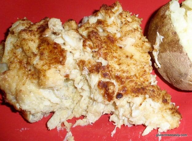 gluten-free crab casserole, dairy-free crab casserole, holiday dishes, crab recipes, gluten free, dairy free, gluten-free Thanksgiving recipes, gluten-free Christmas recipes