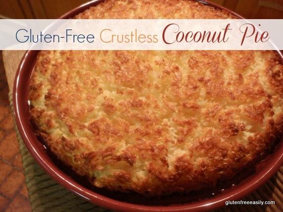 Crustless Coconut Pie Gluten Free Easily