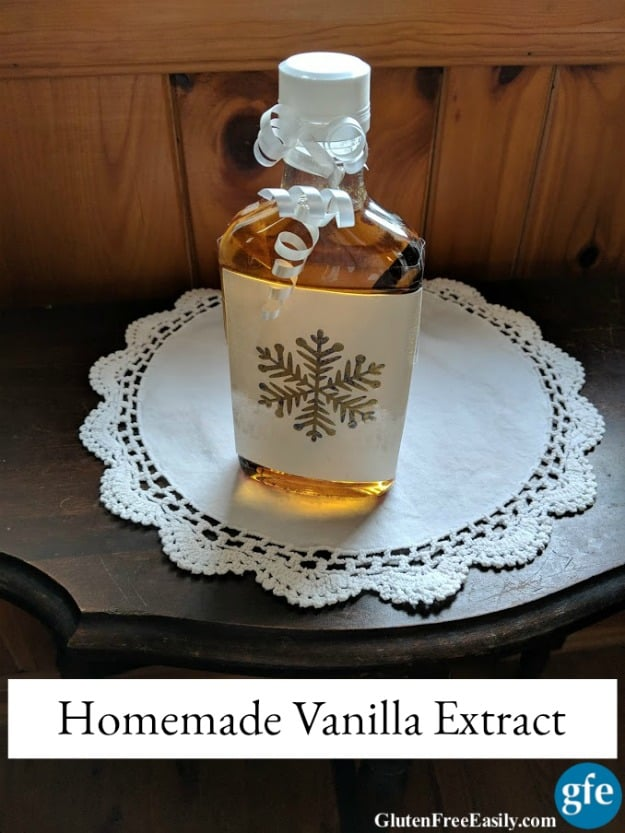 Homemade Vanilla Extract Ready to Give. [from GlutenFreeEasily.com]
