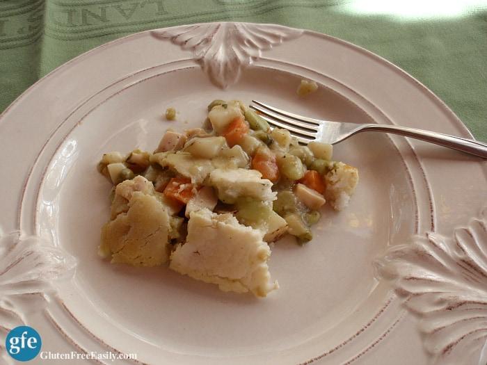 Gluten-Free Chicken or Turkey Pot Pie with Vegan Option at gfe--gluten free easily
