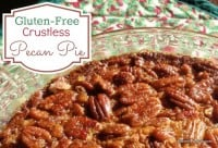 Gluten-Free Crustless Pecan Pie