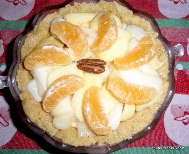 Raw Fruit and Nut Pie. Naturally gluten free. [from GlutenFreeEasily.com]
