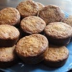 muffins, almond flour, gluten free, dairy free, bananas, carrots, the spunky coconut