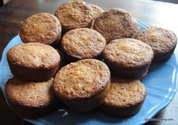 Gluten-Free Almond Banana Carrot Muffins, affectionately referred to as ABC Muffins. This recipe is the muffin version of a cross between banana bread and carrot cake. [from GlutenFreeEasily.com]