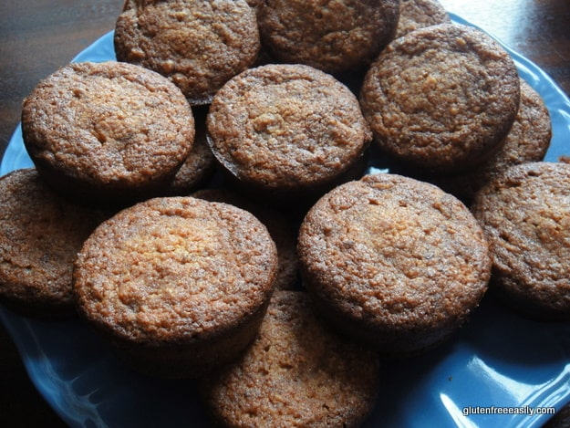 Gluten-Free Almond Banana Carrot Muffins, affectionately referred to as ABC Muffins. This recipe is sort of the muffin version of a cross between banana bread and carrot cake. [from GlutenFreeEasily.com]