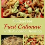 Gluten-Free Fried Calamari with Pico and Avocado Dressing Plus Pina Coladas
