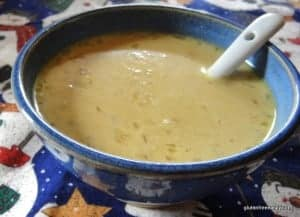 gluten free, pumpkin, soup, Julia Child
