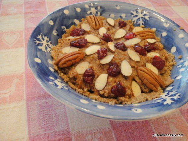 Raw Pecan Pie from Gluten Free Easily. [GlutenFreeEasily.com]