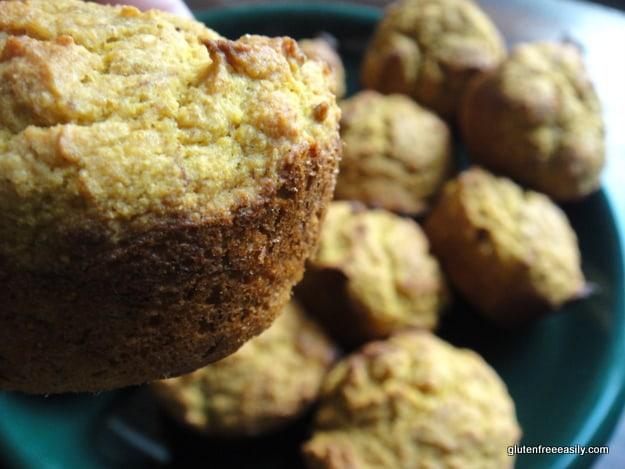 gluten free, dairy free, bran muffin, pumpkin muffin, corn muffin