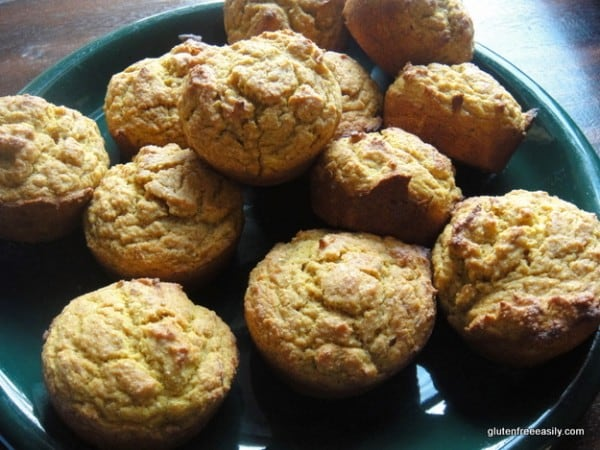 """Gluten-Free Bran Muffins. They're also dairy free. I call them """"Bran"""" New Muffins because there's actually no bran of any kind in these tasty muffins. [from GlutenFreeEasily.com]"""