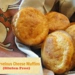 Marvelous Gluten-Free Cheese Muffins. A little crisper on the outside and tender on the inside. Perfectly cheesy accompaniment to soup or chili but great with any meal really. [from GlutenFreeEasily.com]