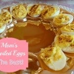 Mom's Deviled Eggs are the very best! So easy to make, too! [from GlutenFreeEasily.com] (photo)