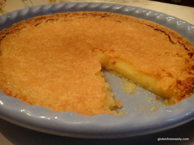 Vinegar Pie with Slice Missing Gluten Free Easily