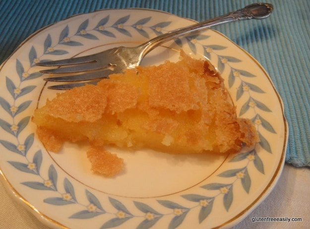 This gluten-free Vinegar Pie is a surprise to many, but it's sweet tart appeal will make most who try it fall in love! A Southern classic. [from GlutenFreeEasily.com]