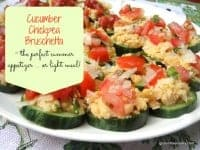 Chickpea Cucumber Bruschetta Gluten Free Easily