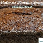 Gluten-Free Molasses Banana Bread is the very best banana bread!! This recipe tastes more like cake than your typical banana bread. [from GlutenFreeEasily.com]