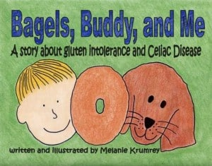 gluten free, celiac, children's book, pets, Bagels, Buddy, and Me, Melanie Krumrey