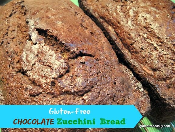 Chocolate Zucchini Bread from gfe. One of many fabulous Gluten-Free Mother's Day Brunch Recipes!