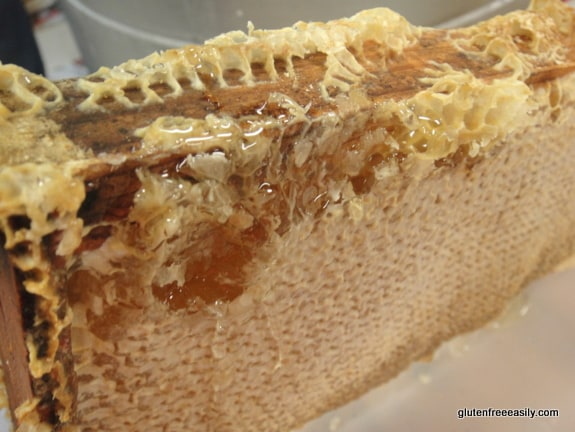 Beautiful and amazing honeycomb from our hardworking bees. [from GlutenFreeEasily.com]