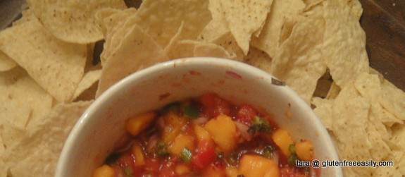 End of Summer Peach Salsa from Tasty Eats At Home