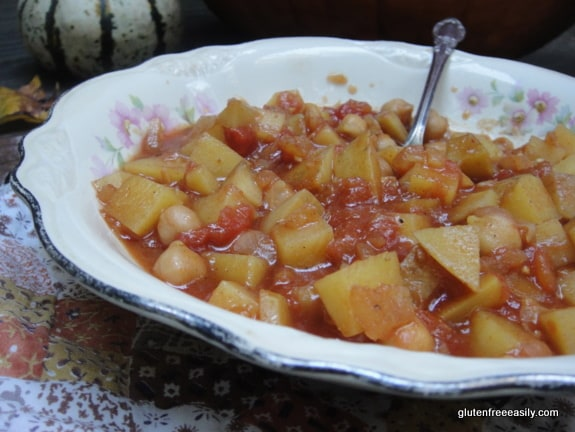 Bombay potatoes, chickpea tomato curry, curry, Indian dishes, gluten free, dairy free, recipe, gluten free easily
