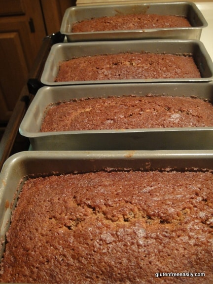 Classic Pumpkin Bread. Four mini loaves. [from GlutenFreeEasily.com]