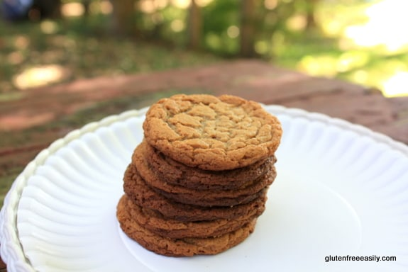 Flourless Almond Peanut Butter Cookies. Naturally gluten free and wonderfully amazing! [from GlutenFreeEasily.com] (photo)